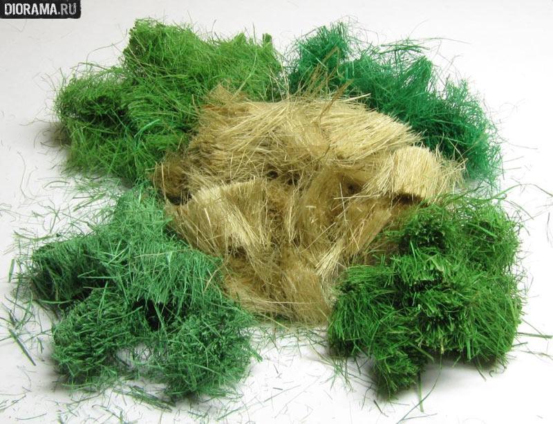 Искусственная трава своими руками для поделки