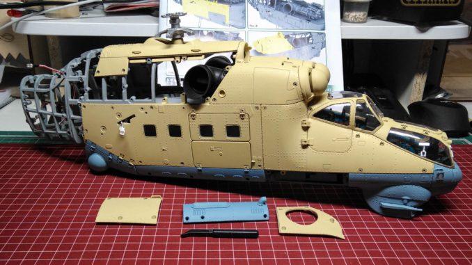 Ударный вертолет Ми-24В от Eaglemoss в масштабе 1/24