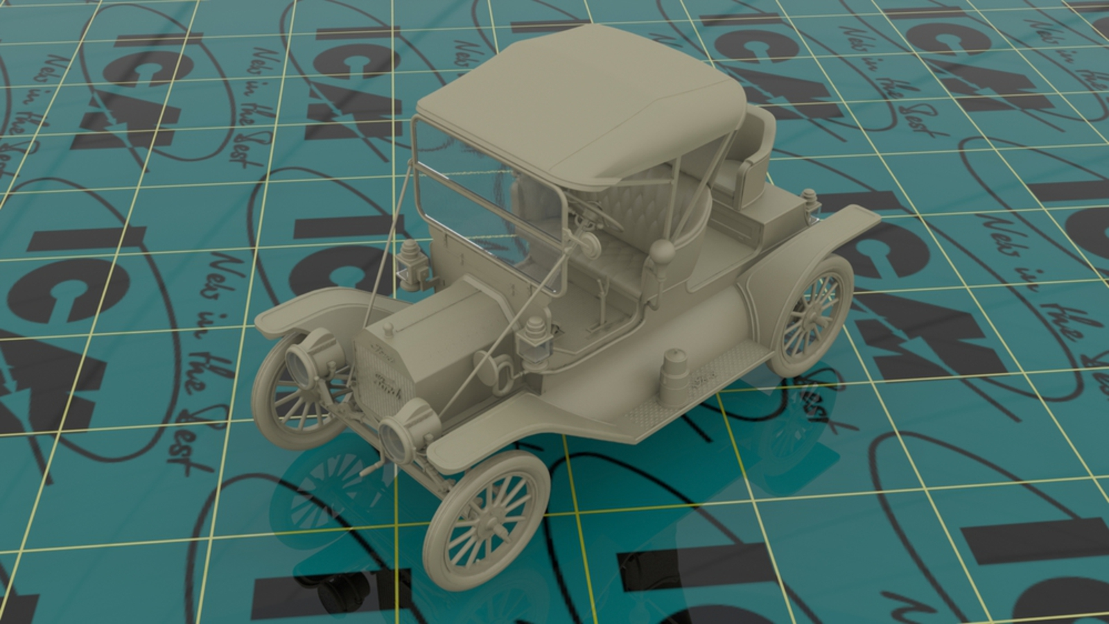 1/24 24016 ICM Model T 1912 Commercial Roadster, American Car