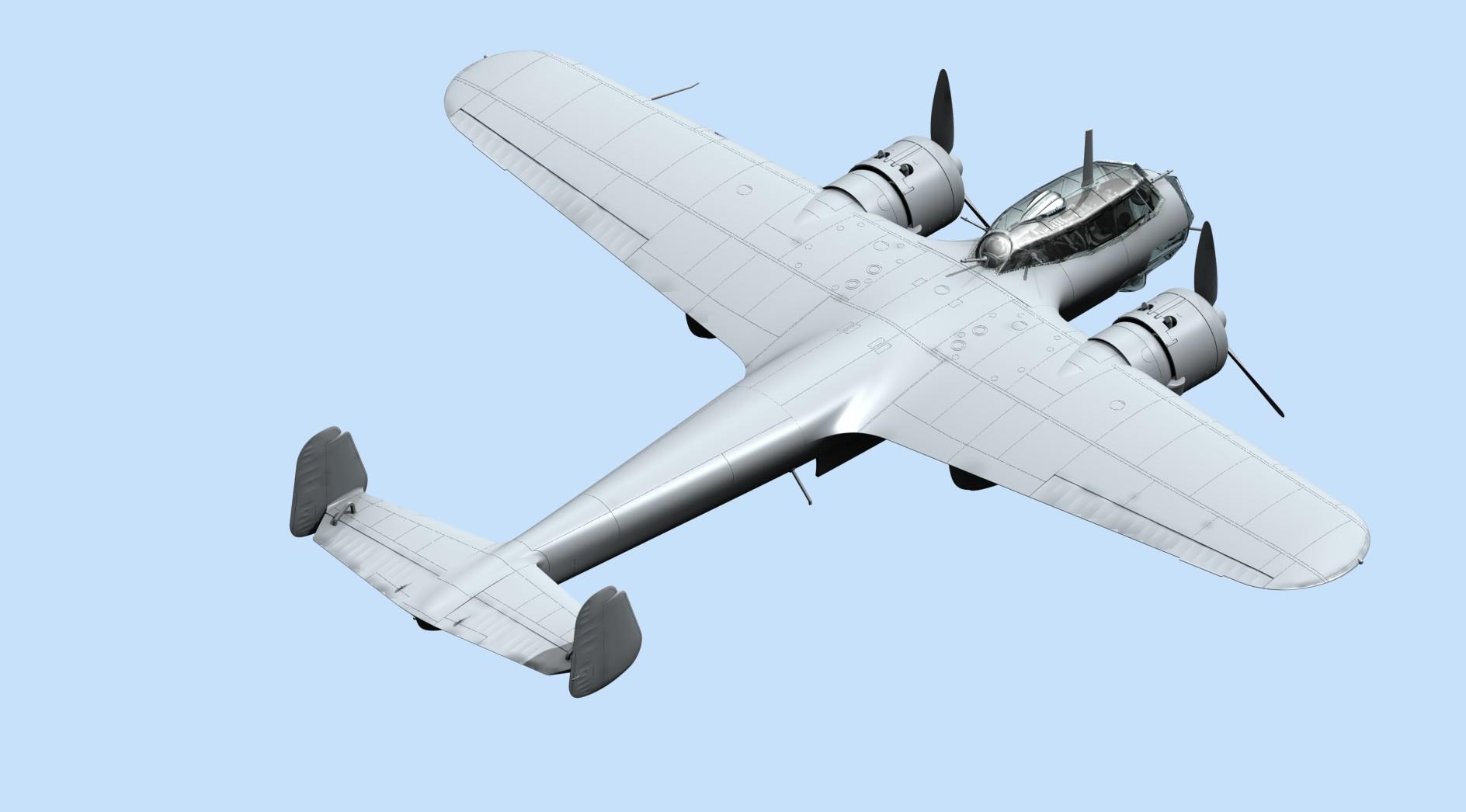 1/72 ICM 72308 Do 17Z-2, Бомбардировщик ВВС Финляндии ІІ МВ \ Do 17Z-2, WWII Finnish Bomber