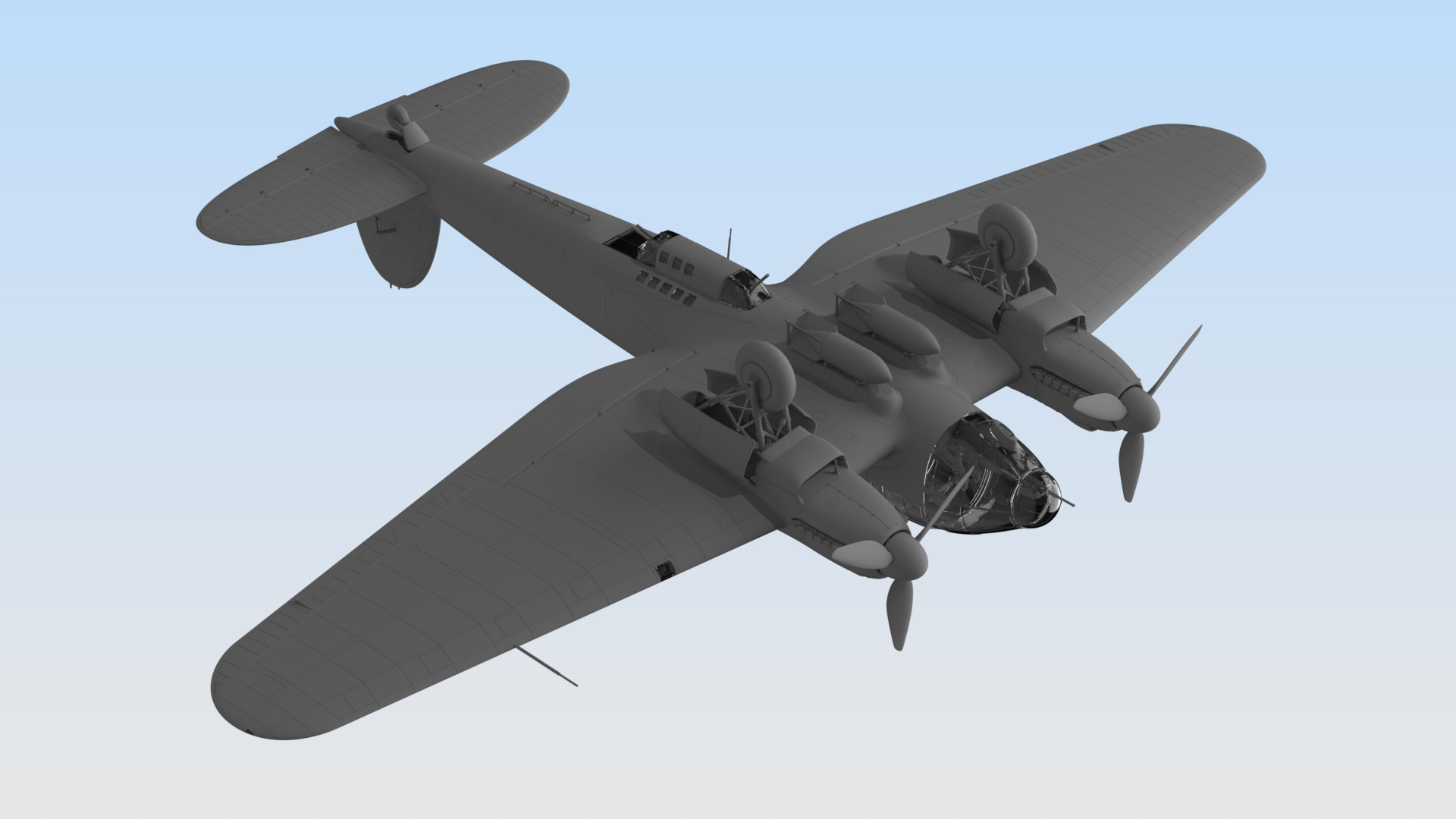 1/48 48263 He 111H-16, Германский бомбардировщик ІІ МВ \ He 111H-16, WWII German Bomber
