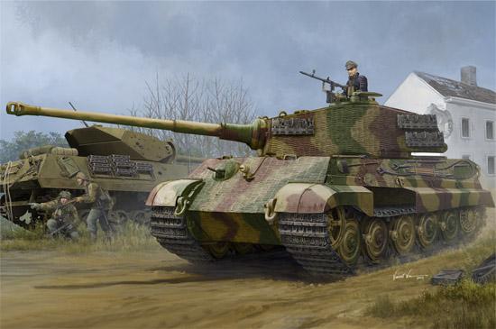 1/35 Pz.Kpfw.VI Sd.Kfz.182 Tiger II (Henschel 1944 Production) w/ Zimmerit 84531