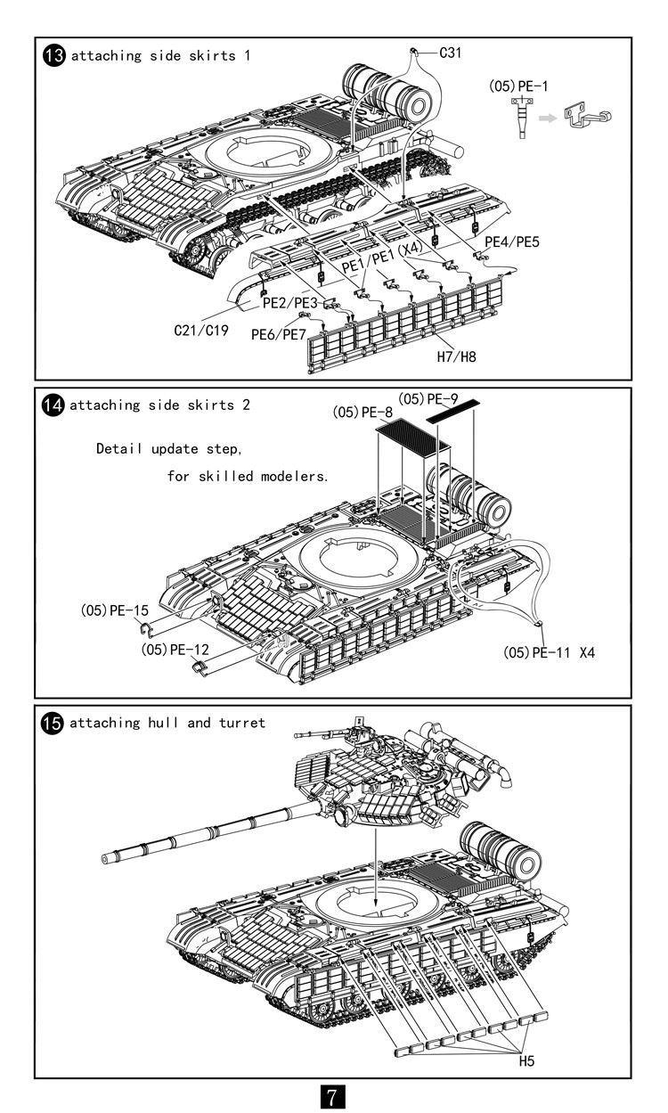 ModelCollect 1/72 Soviet Army T-64AV/BV 2 IN 1 Main Battle Tank UA72128