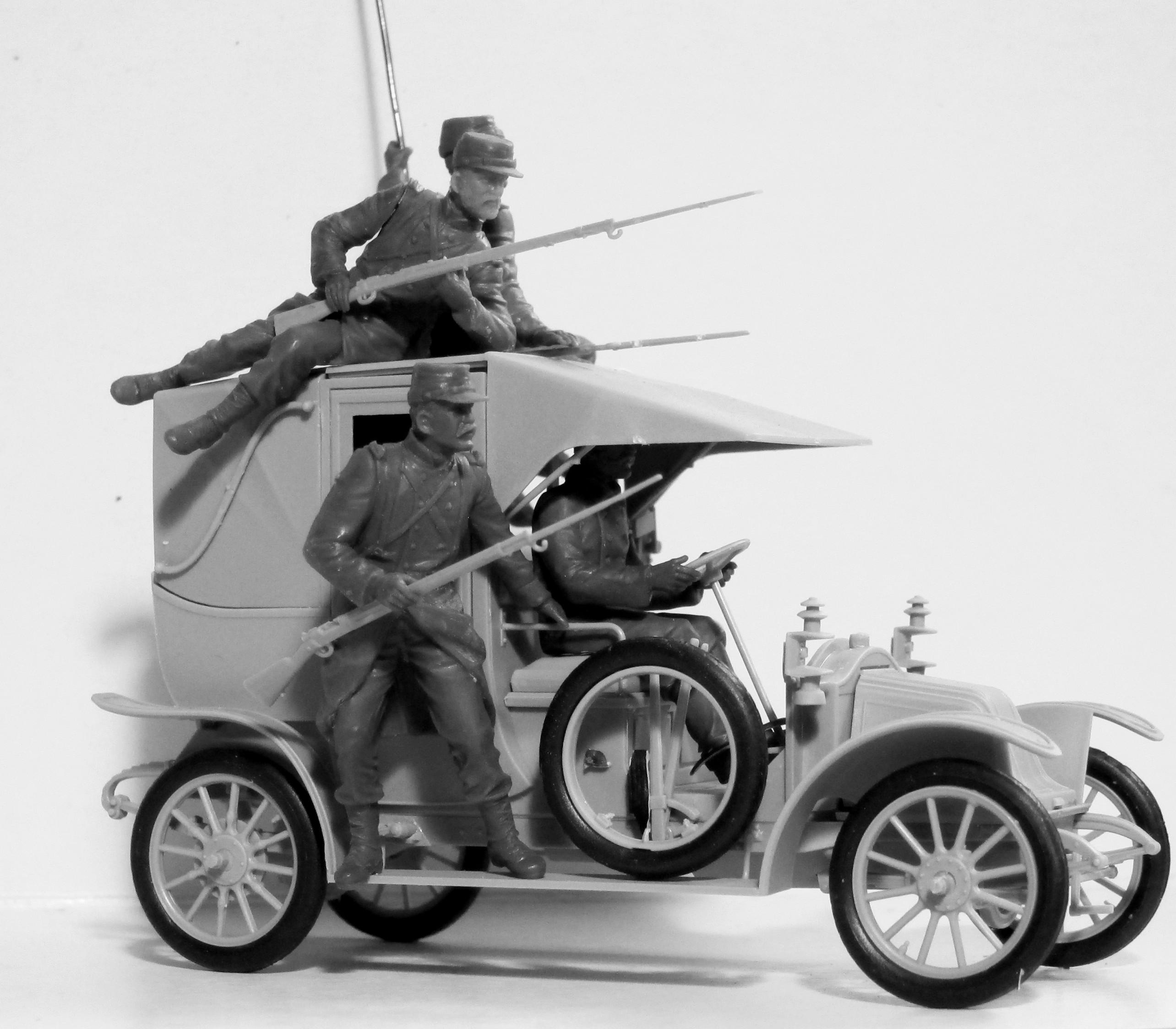 """1:35 """"Битва на Марне"""" (1914 г.), Автомобиль такси с французской пехотой 35660"""