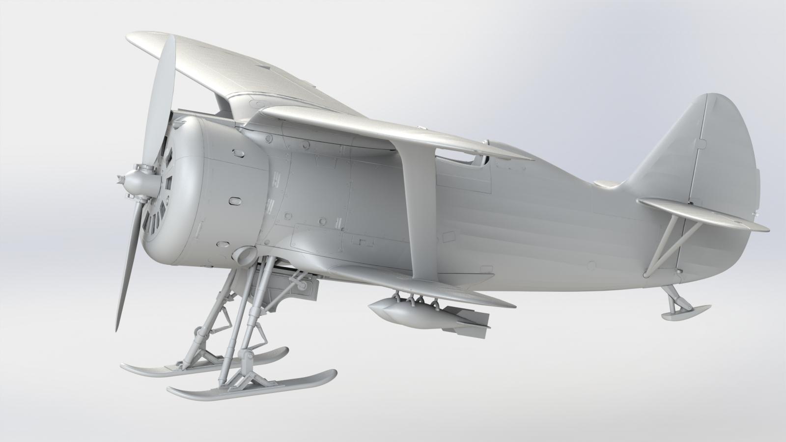 "1/32 И-153 ""Чайка"" (зимний вариант), Советский истребитель ІІ МВ 32011"