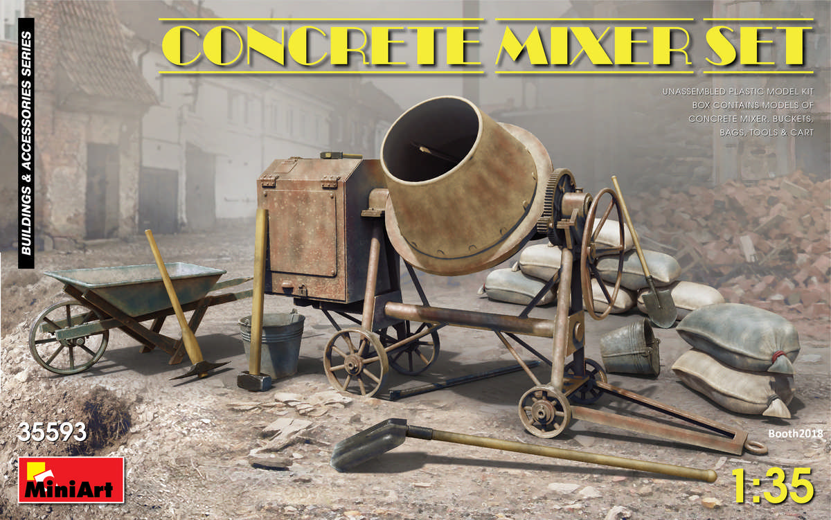 1/35 CONCRETE MIXER SET 35593
