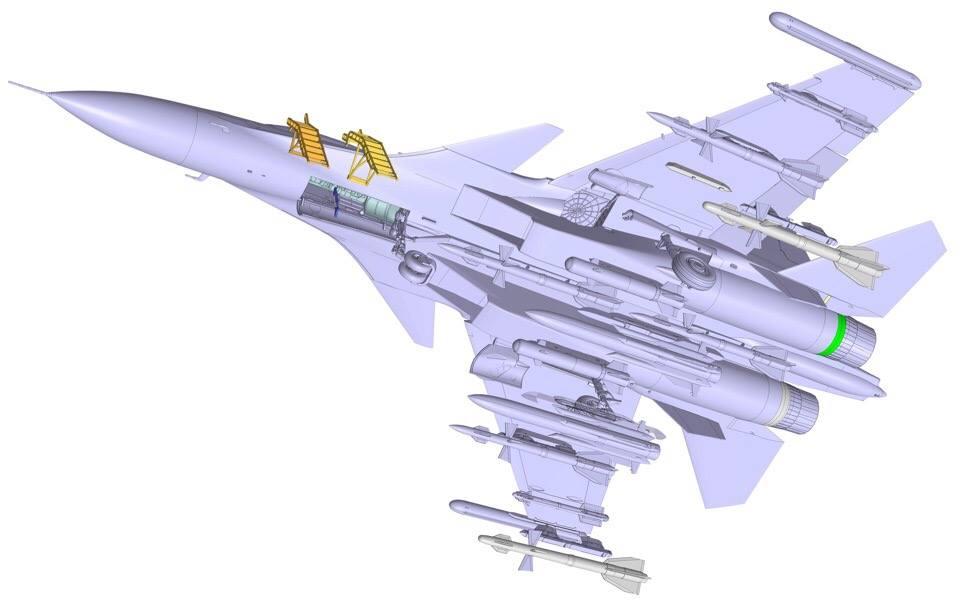 Рендеры новинки в 72-м масштабе истребителя поколения 4++ Су-30см