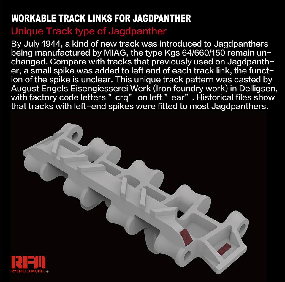 RM-5024 1/35 Workable Track Links for Jagdpanther