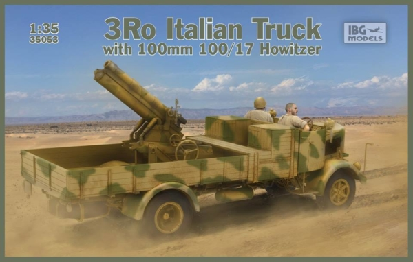 1/35 3Ro Italian Truck with 100/17 100mm Howitzer 35053