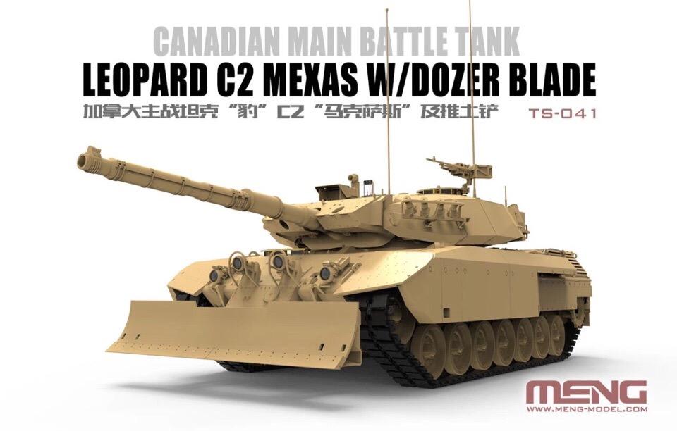 MENG TS-041 Canadian Main Battle Tank Leopard C2 MEXAS w/Dozer Blade