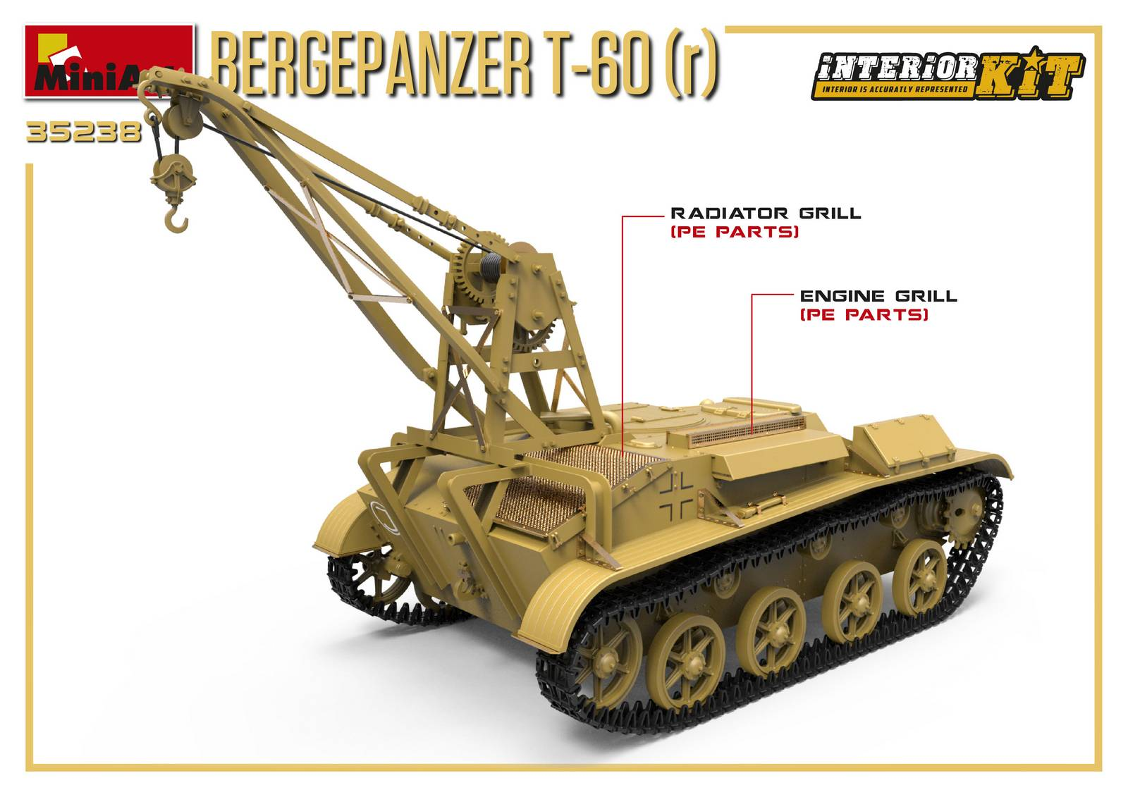 1/35 BERGEPANZER T-60 ( r ) INTERIOR KIT 35238