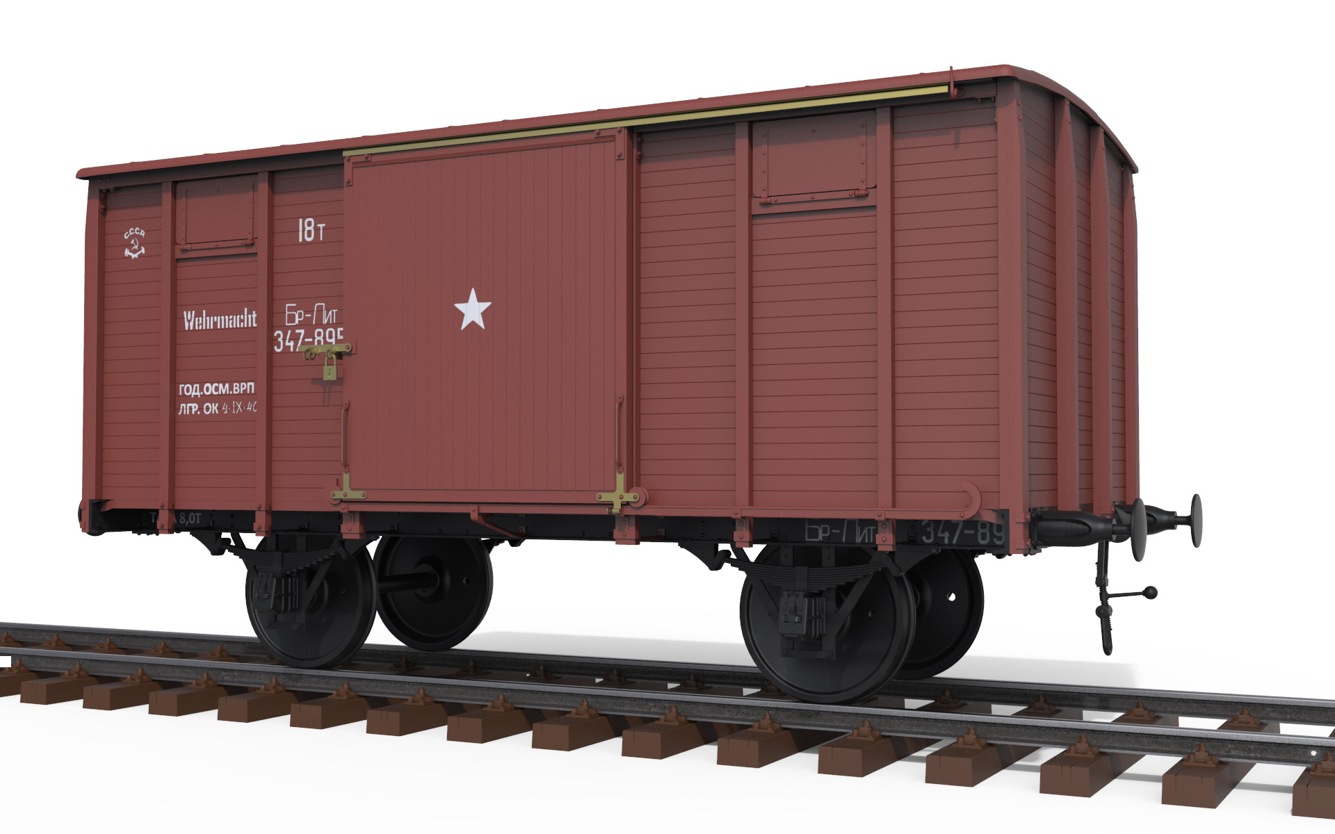 "1/35 RAILWAY COVERED GOODS WAGON 18t ""NTV"" TYPE 35288"