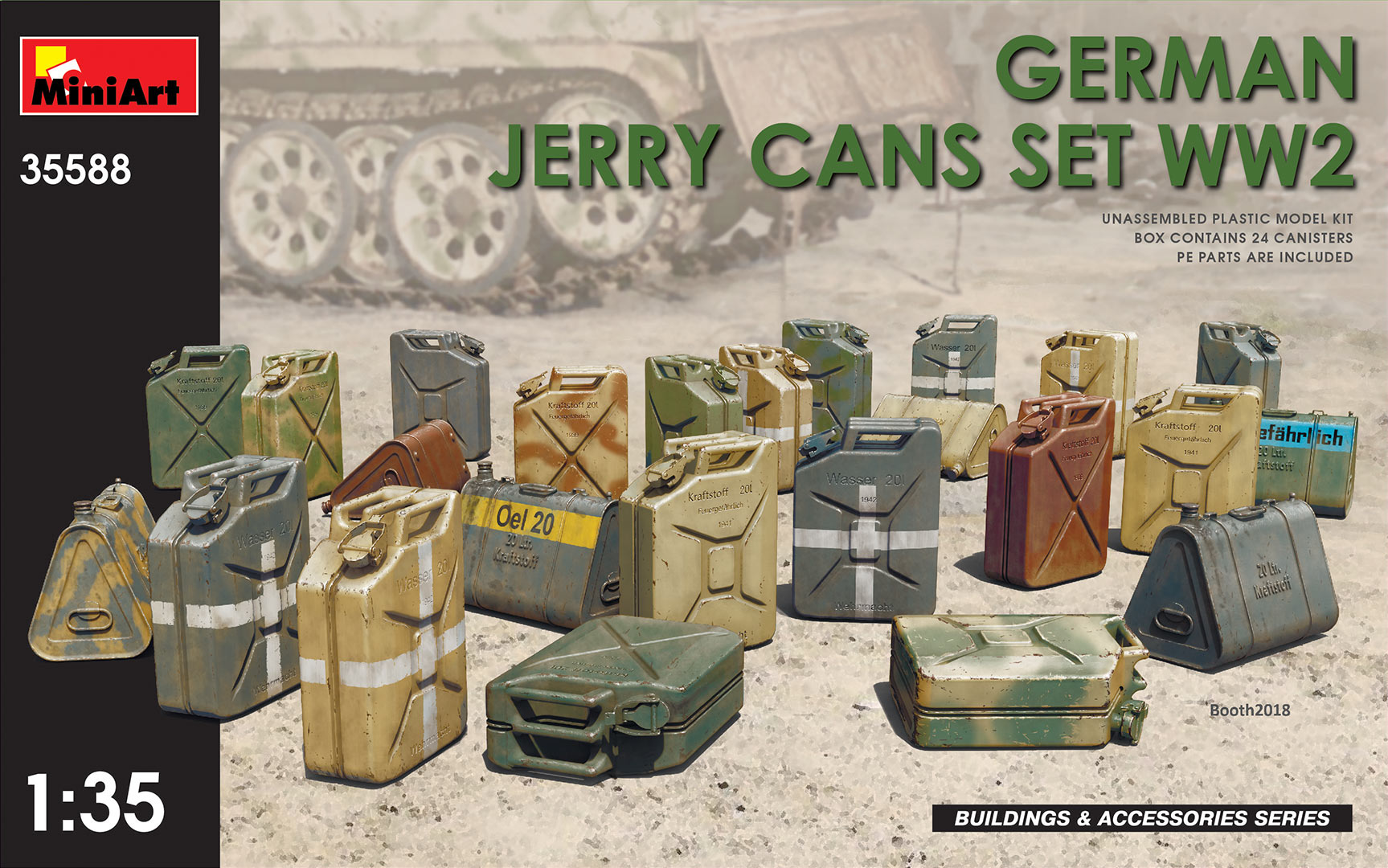 1/35 GERMAN JERRY CANS SET WW2 35588