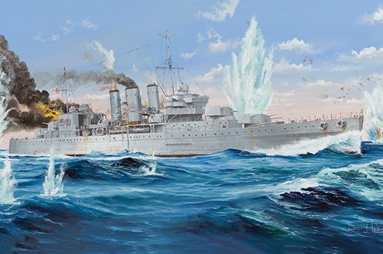 1:350 HMS Cornwall 05353