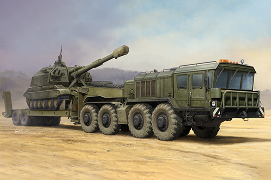 1/35 Russian KZKT-7428 Transporter with KZKT-9101 Semi-Trailer 01039