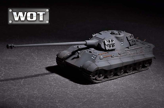 1/72 German King Tiger (Porsche turret) with 105mm kwk L/68 07161