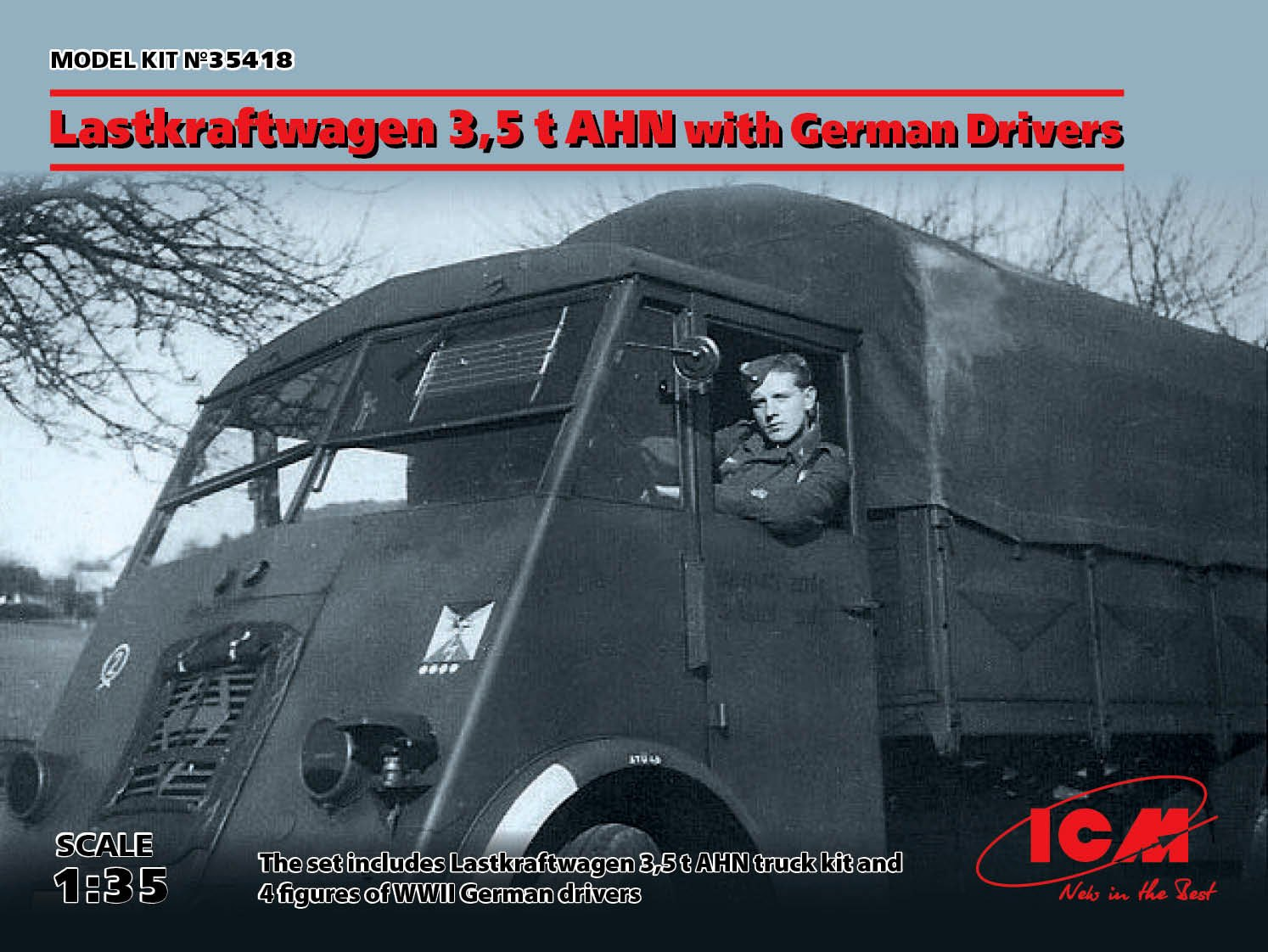 1/35 Lastkraftwagen 3,5 t AHN with German Drivers 35418