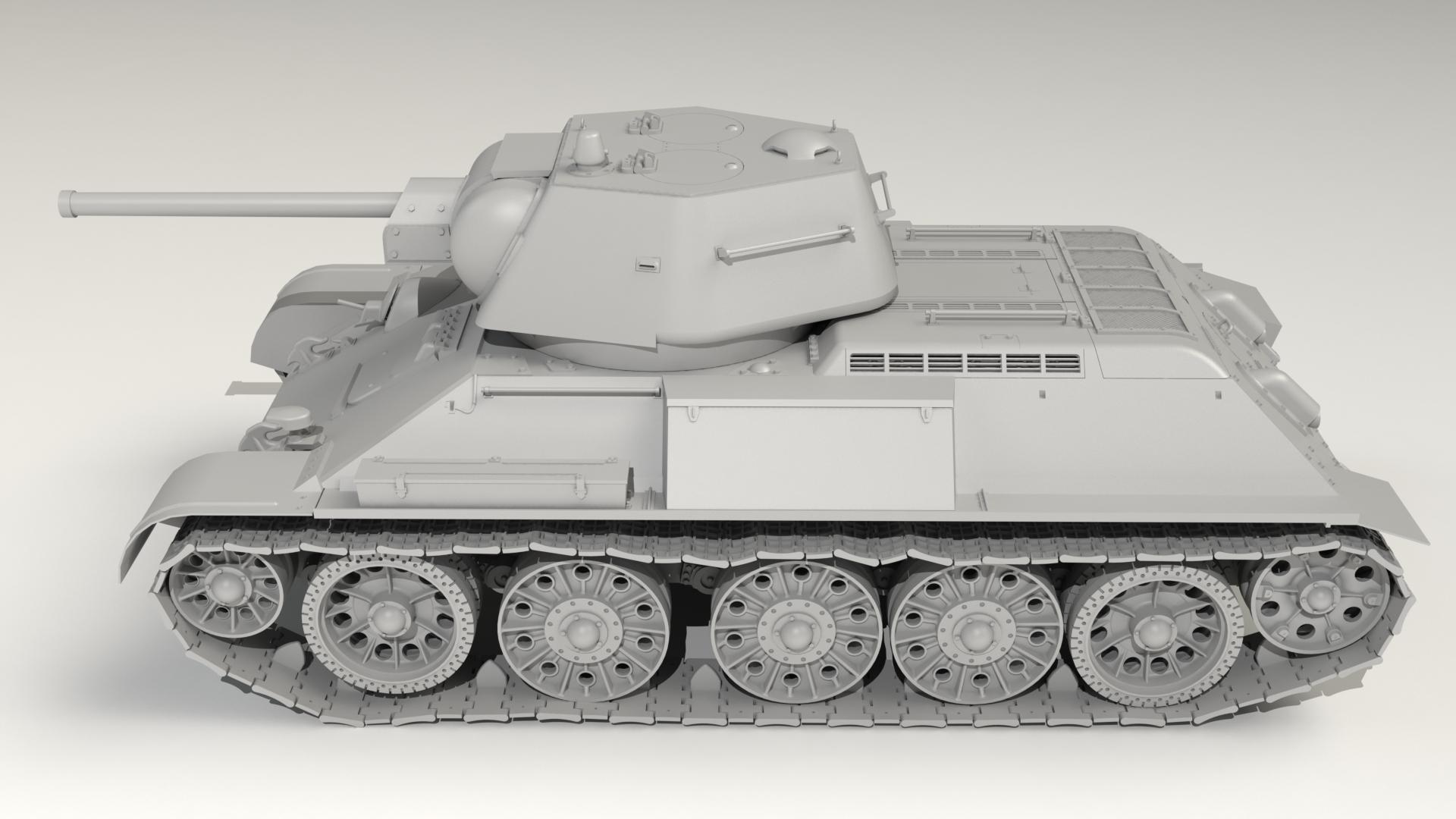 Pz.Kpfw. 747 T-34 (r), WWII German Medium Tank