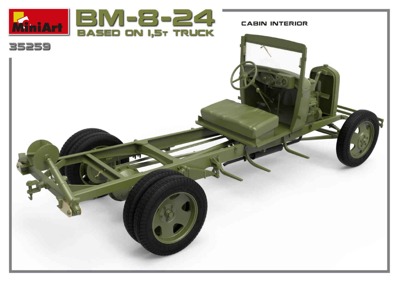 1/35 БМ-8-24 НА ОСНОВЕ ГРУЗОВИКА 1,5т MiniArt 35259