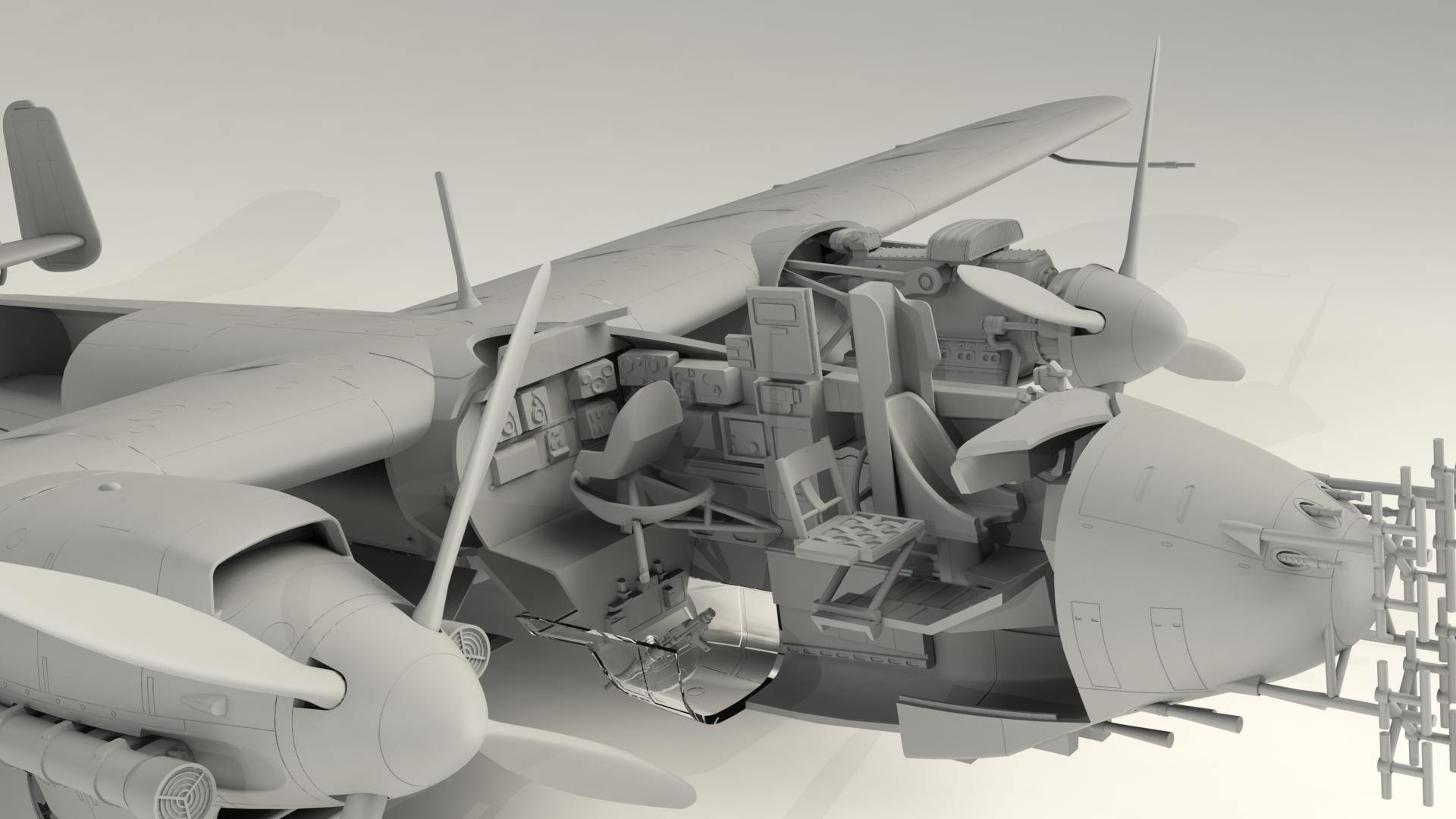 1/48 Do 217N-1, Германский ночной истребитель ІІ МВ #48271 / Do 217N-1, WWII German Night Fighter (100% new molds)