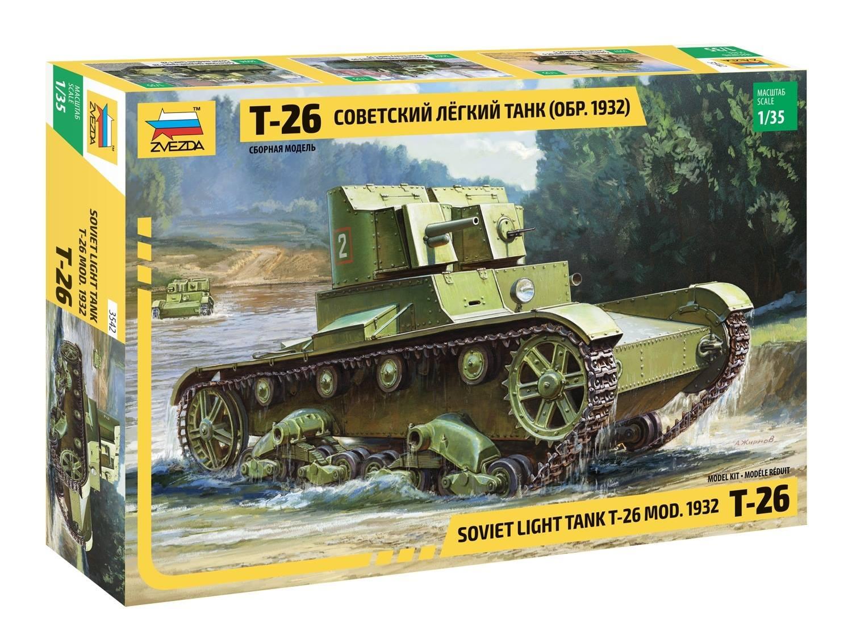 1/35 Т-26 Советский легкий танк (обр. 1932) 3542 (Soviet light tant T-26 MOD.1932)