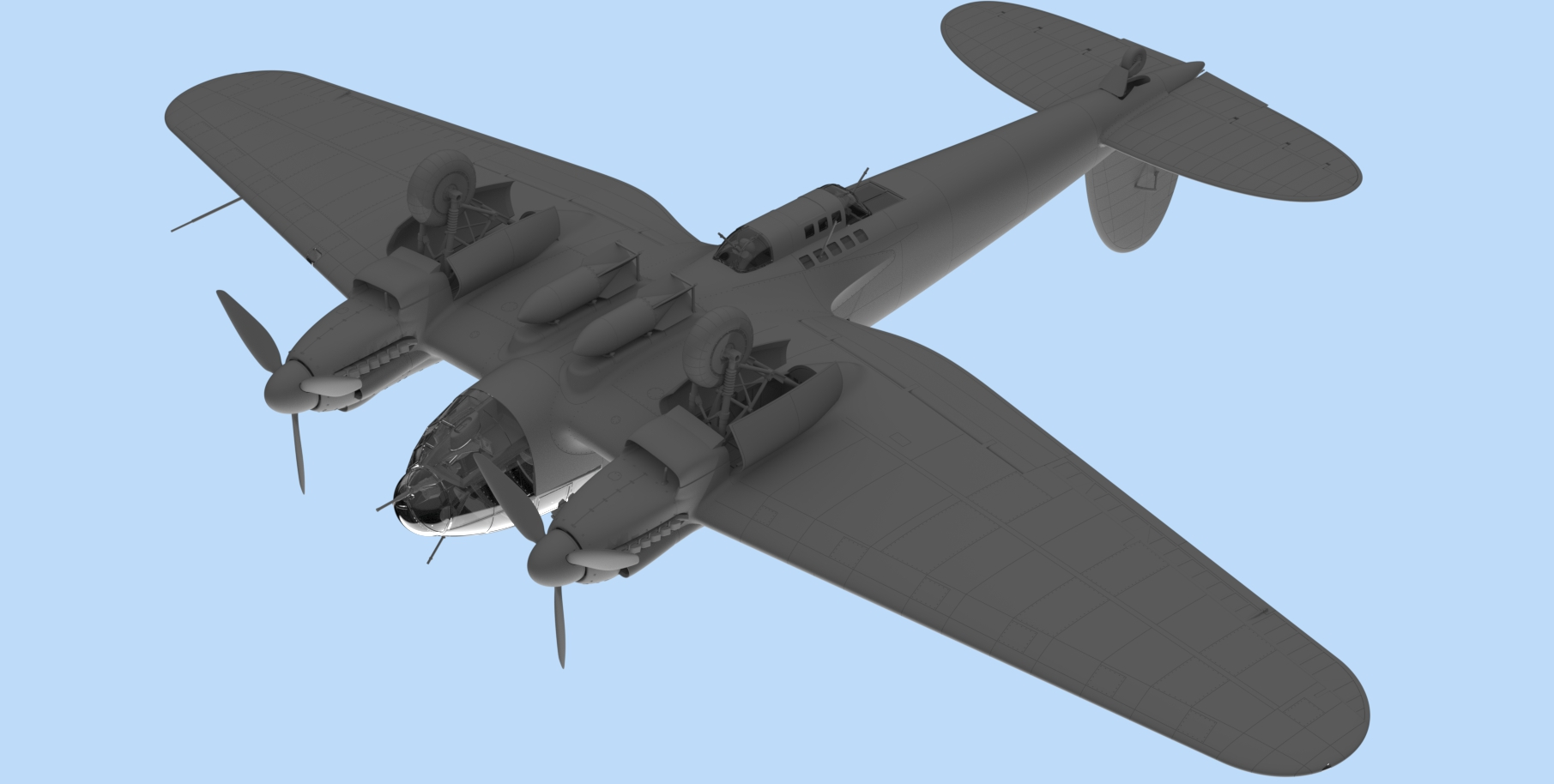 1/48 He 111H-6 North Africa, WWII German Bomber 48265