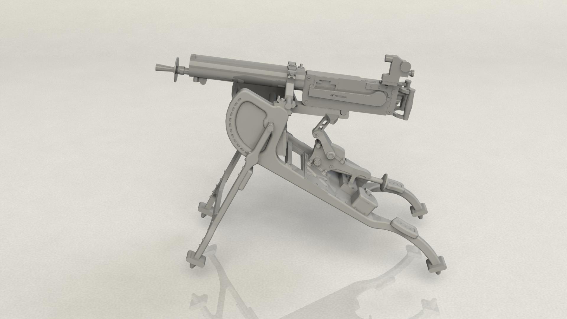 1/35 German MG08 Machine Gun (100% new molds) 35710