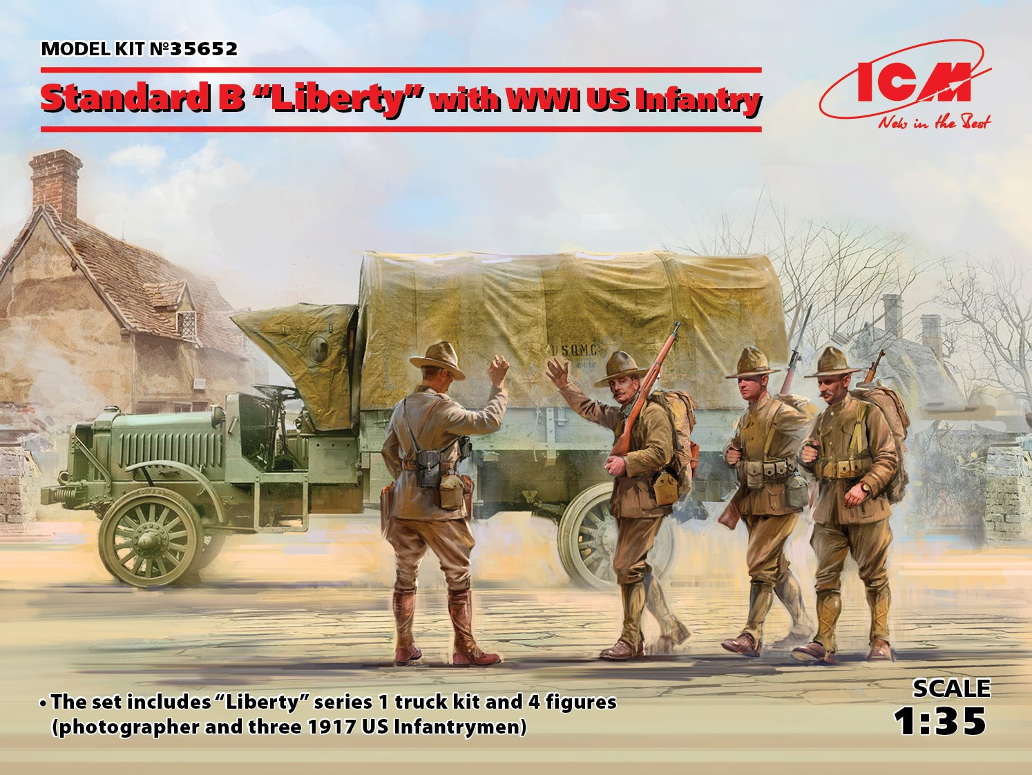 """1/35 Standard B """"Liberty"""" with WWI US Infantry 35652"""