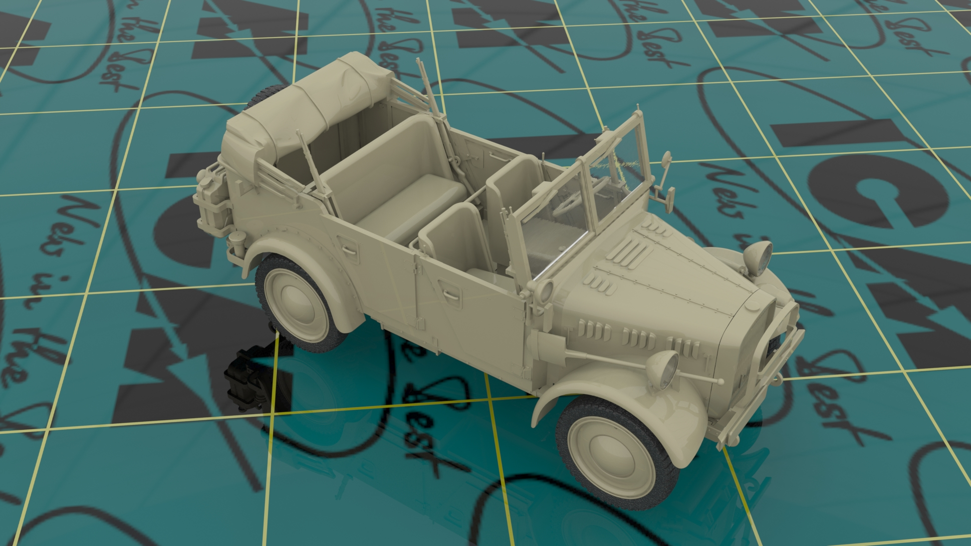 1/35 Wehrmacht Off-road Cars (Kfz.1, Horch 108 Typ 40, L1500A) DS3503