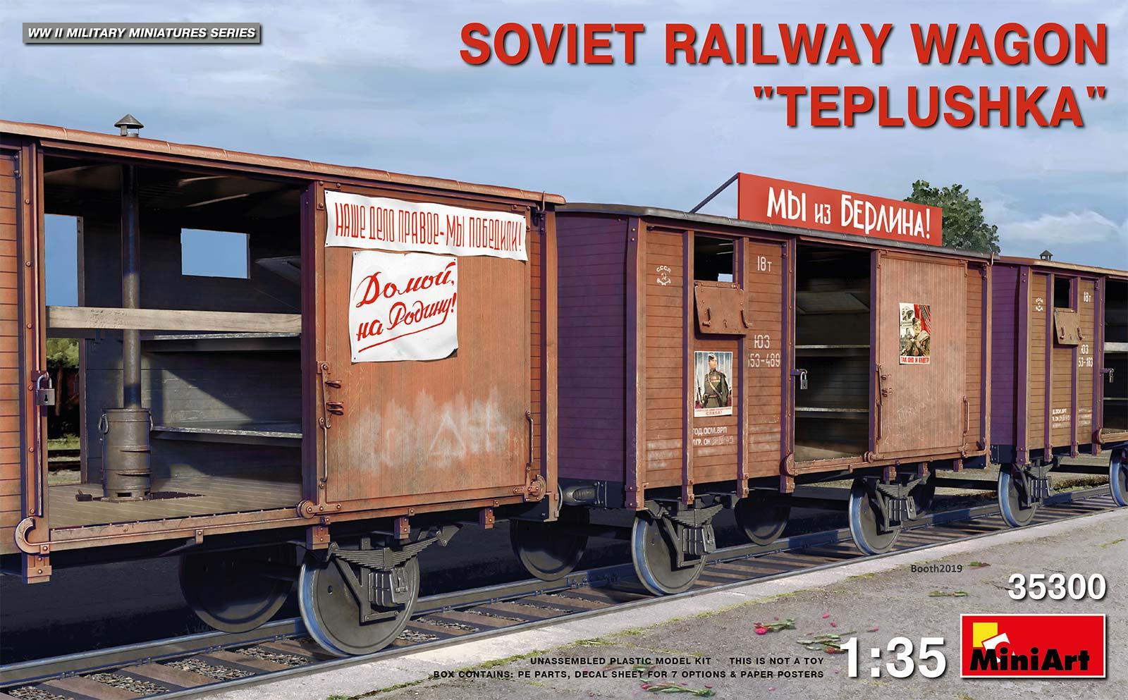 "1/35 SOVIET RAILWAY WAGON ""TEPLUSHKA"" 35300"
