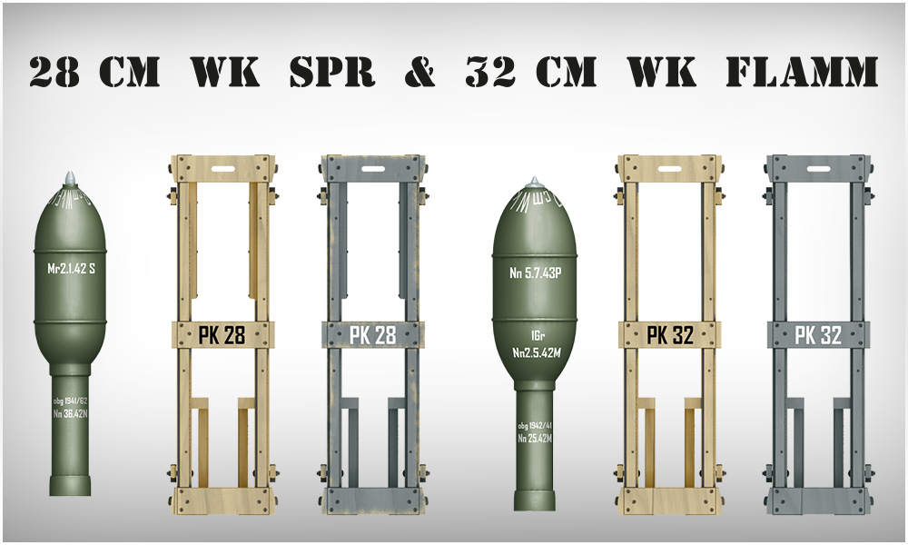 1/35 GERMAN ROCKETS 28cm WK Spr & 32cm WK FLAMM | Немецкие Снаряды 28см WK Spr и 32см WK FLAMM 35316