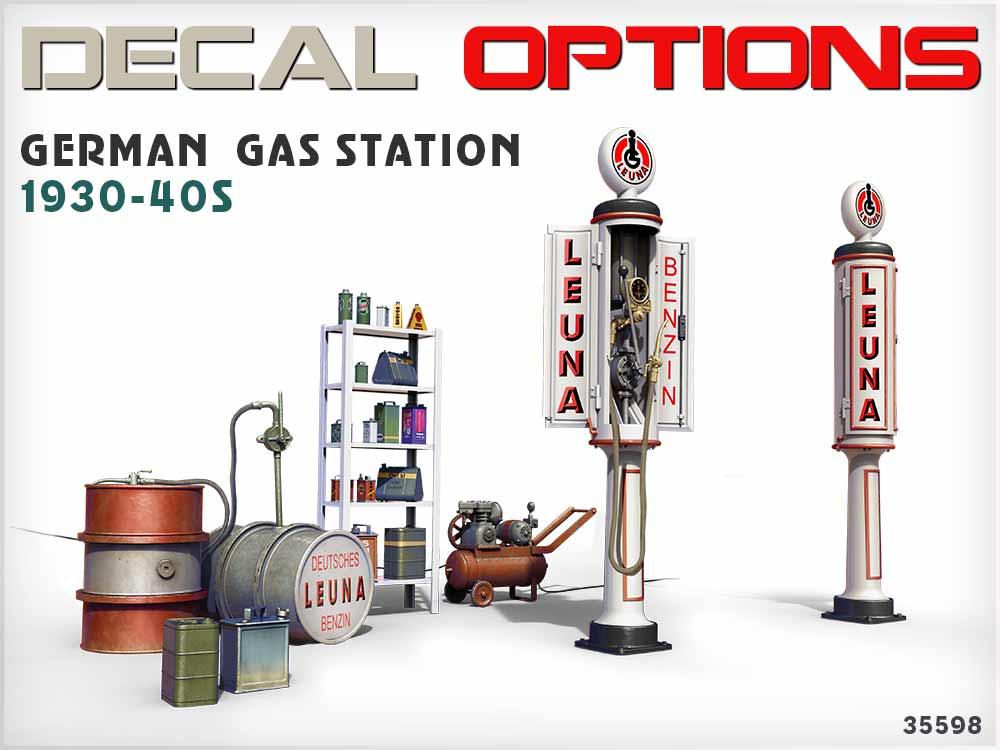 1/35 GERMAN GAS STATION 1930-40s | Немецкая Заправочная Станция 1930-40г 35598