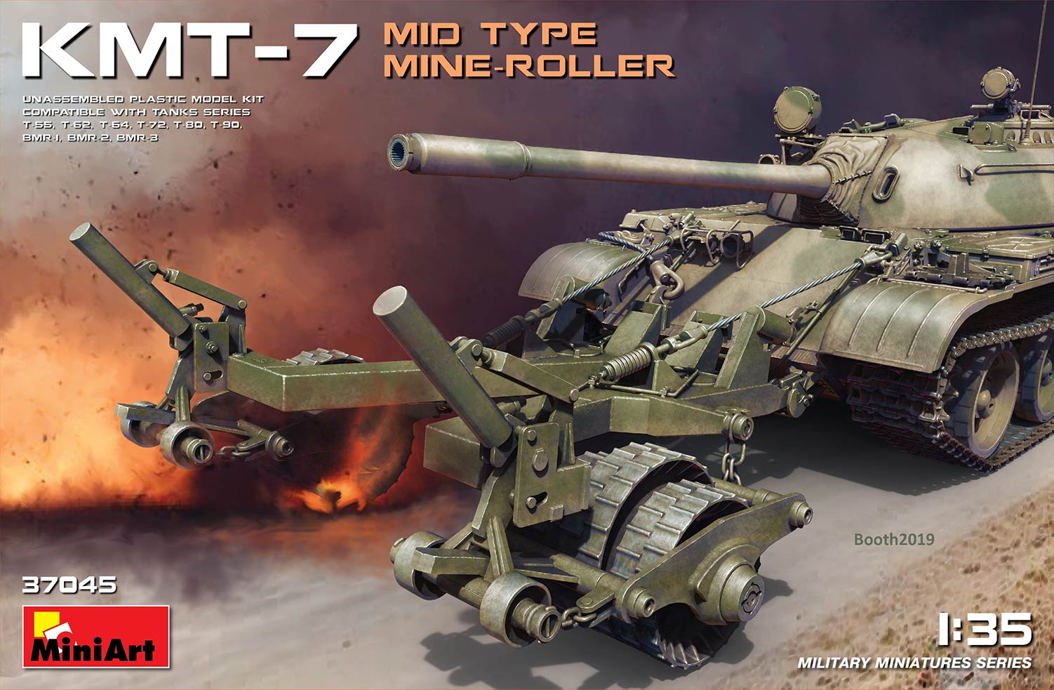 1/35 KMT-7 MID TYPE MINE-ROLLER 37045