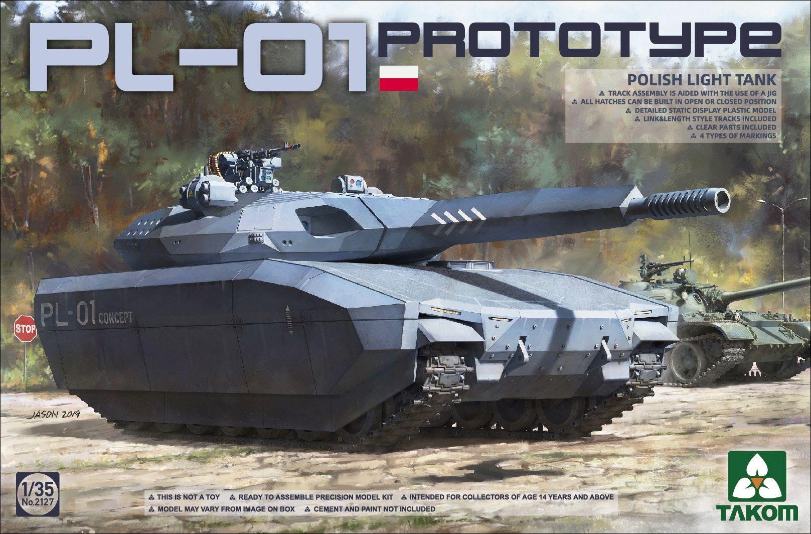 1/35 PL-01 Polish Light Tank Prototype #2127