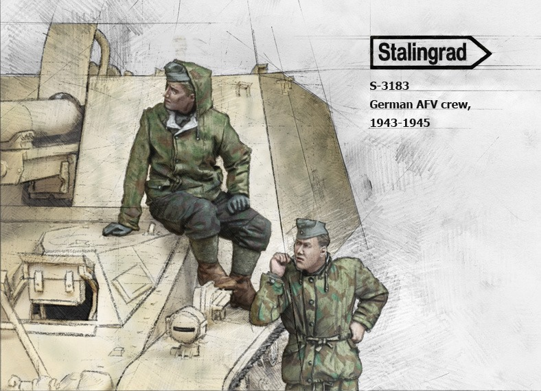 1/35 German AFV crew #3183