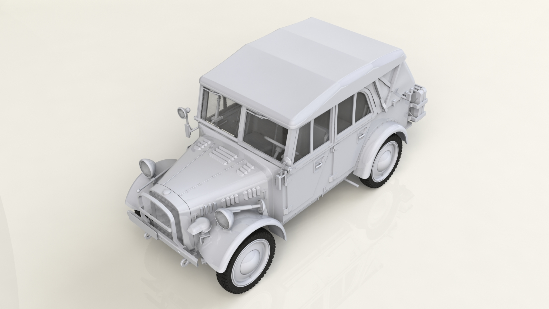 1/35 le.gl.Einheitz-Pkw Kfz.1 Soft Top, WWII German Light Personnel Car 35582