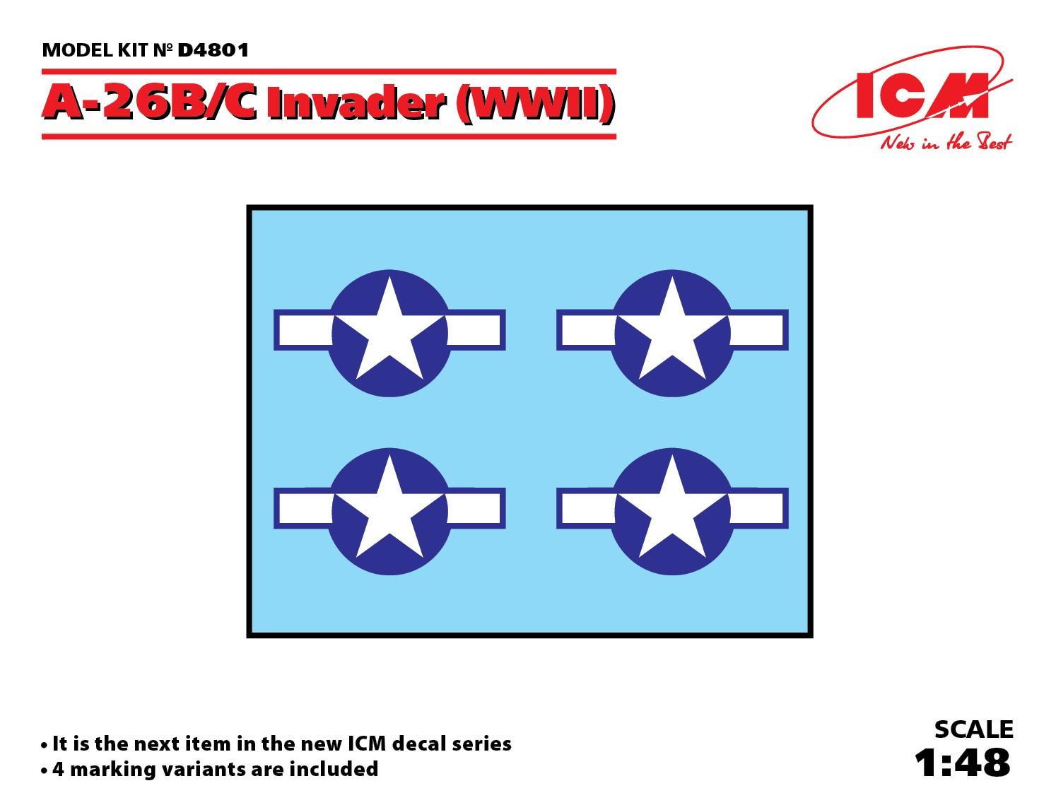 1/48 A-26B/C Invader (WWII) D4801