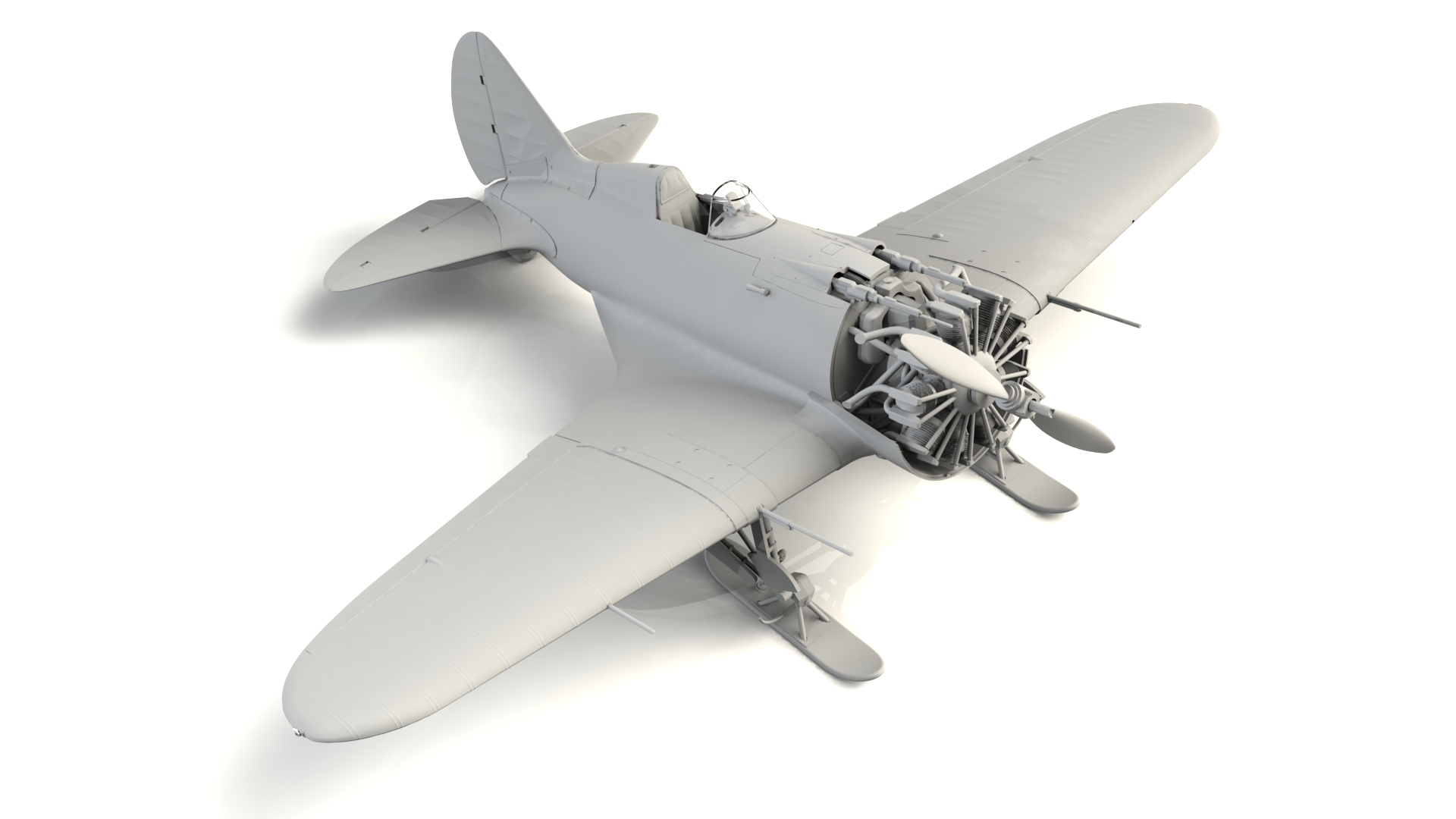 1/32 I-16 type 17, WWII Soviet Fighter 32005