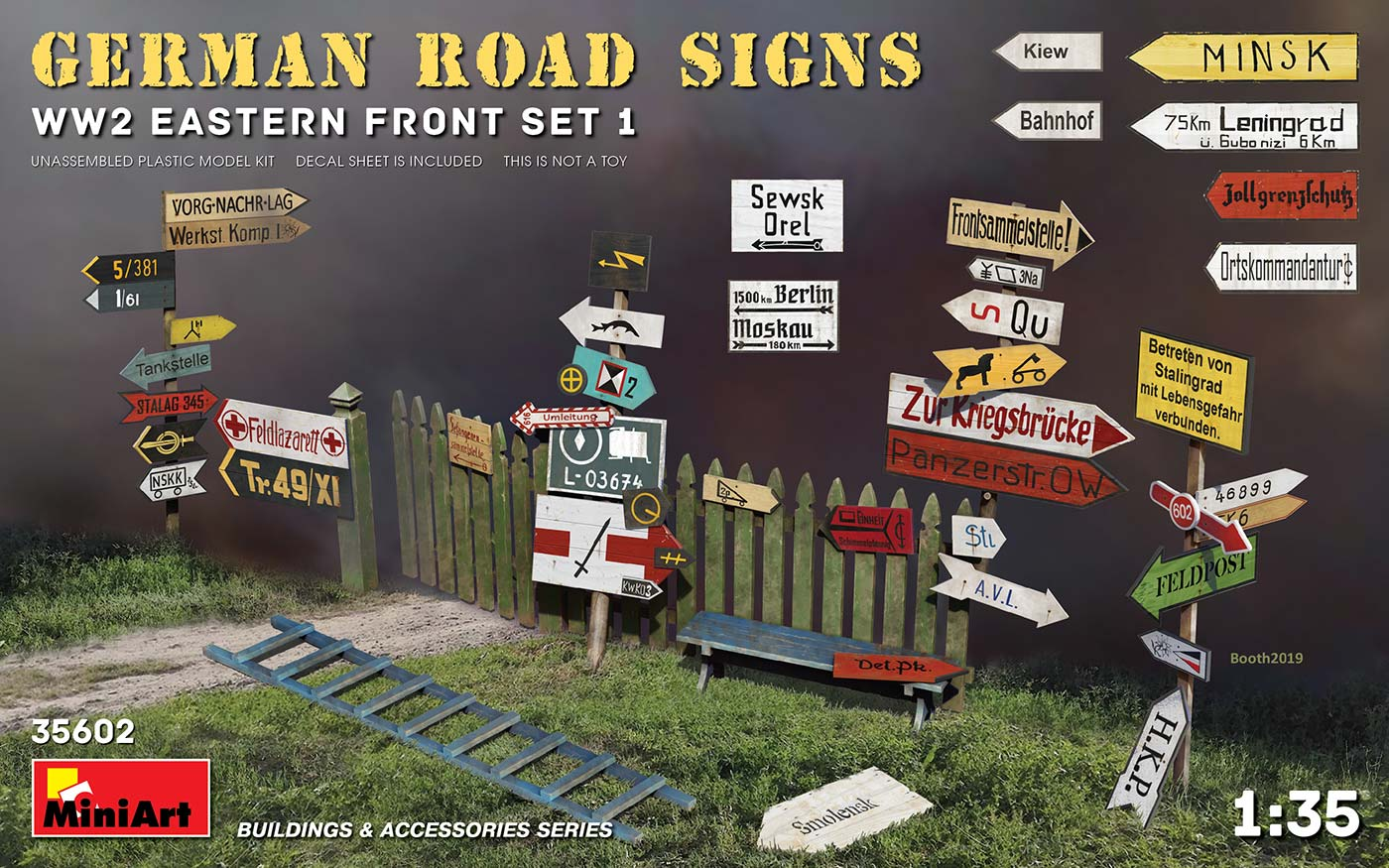 1/35 GERMAN ROAD SIGNS WW2 (EASTERN FRONT SET 1) 35602