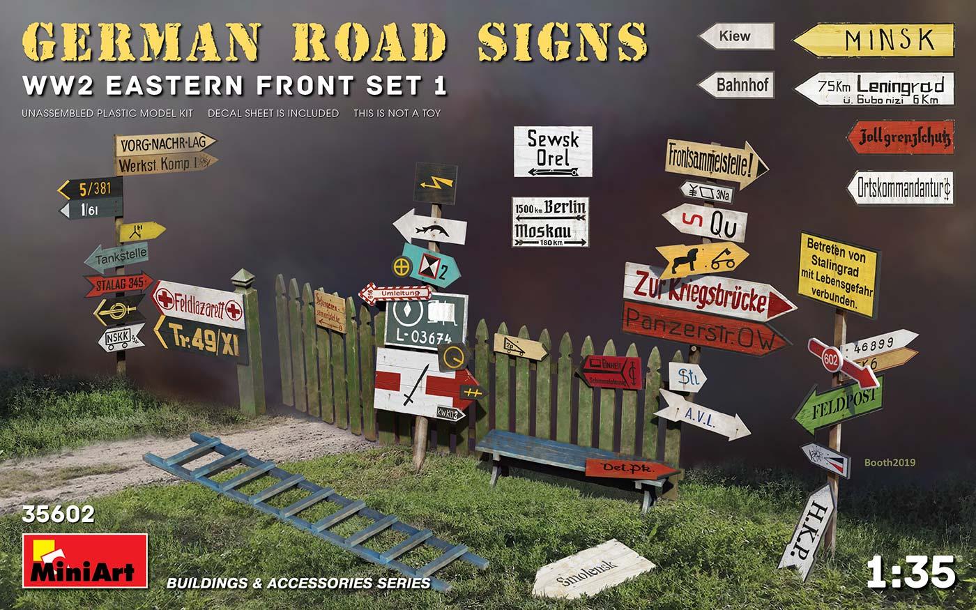 1/35 GERMAN ROAD SIGNS WW2 (EASTERN FRONT SET 1) 35602