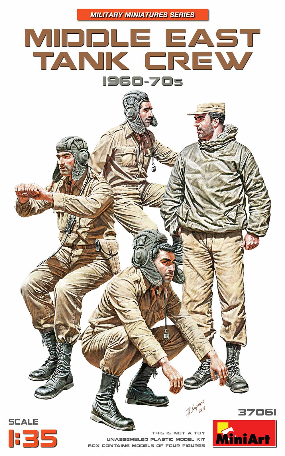 1/35 MIDDLE EAST TANK CREW 1960-70s 37061