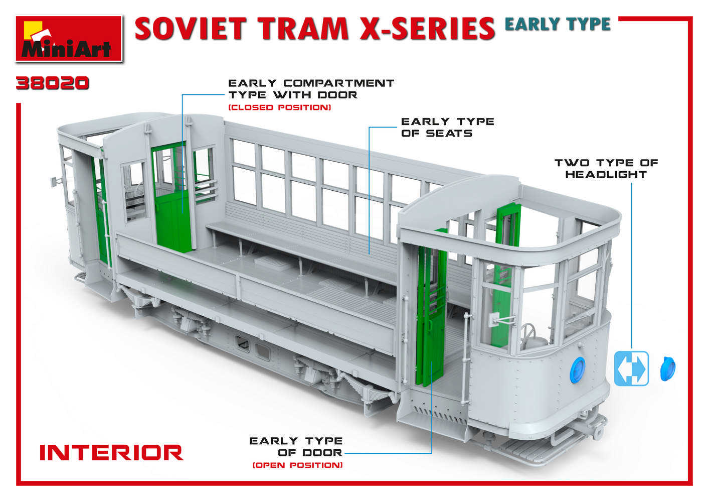 1/35 SOVIET TRAM X-SERIES. EARLY TYPE 38020