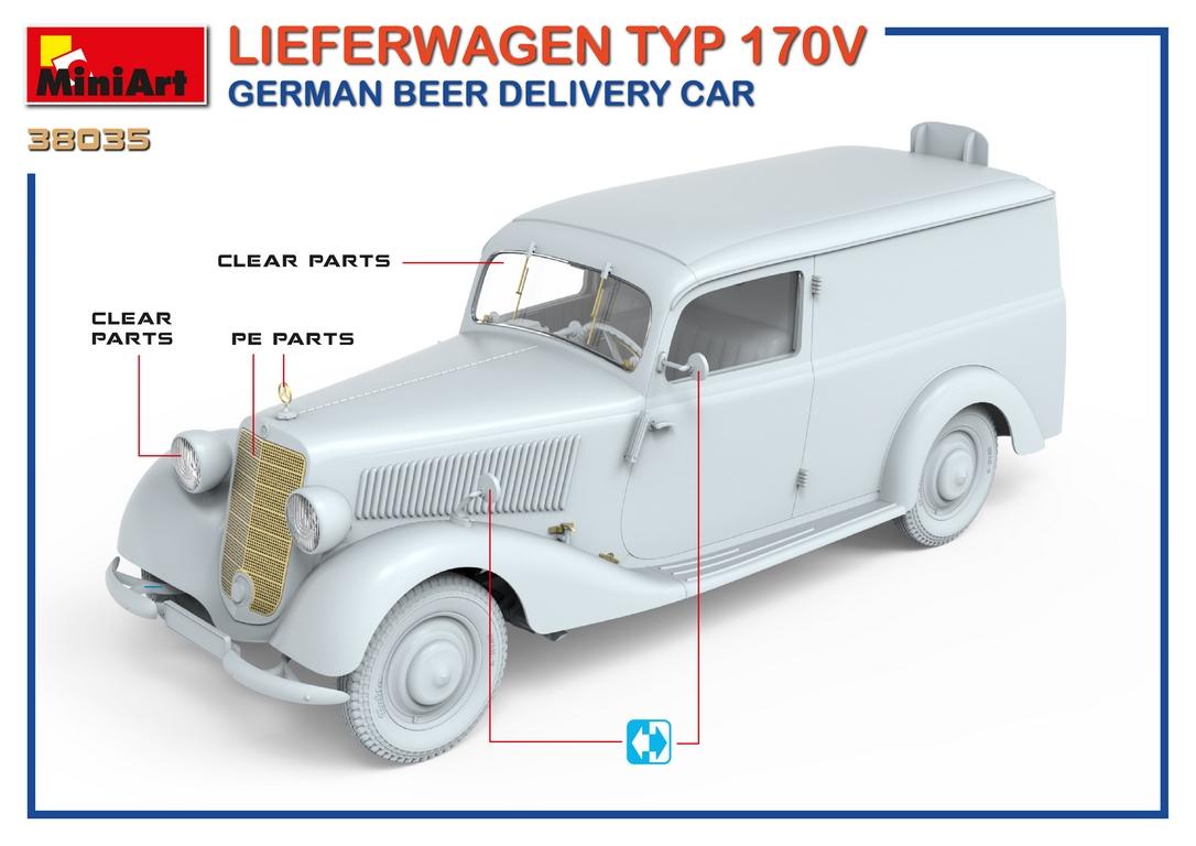 1/35 LIEFERWAGEN TYP 170V GERMAN BEER DELIVERY CAR 38035