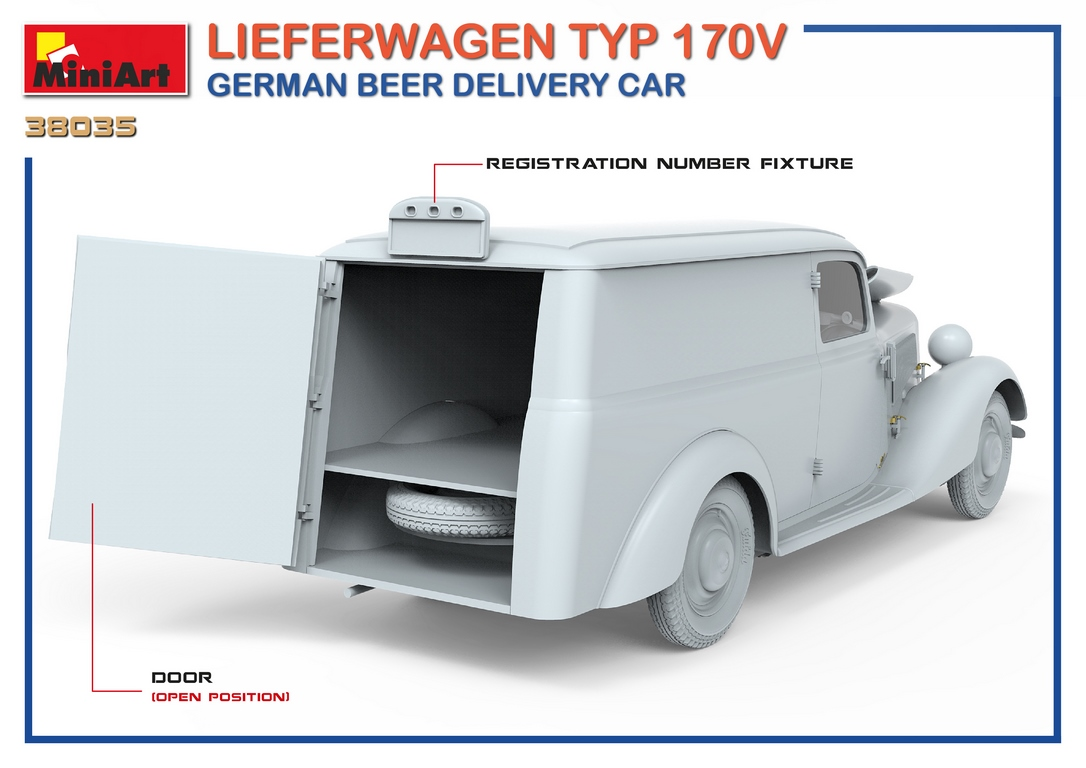 1/35 LIEFERWAGEN TYP 170V GERMAN BEER DELIVERY CAR 38035