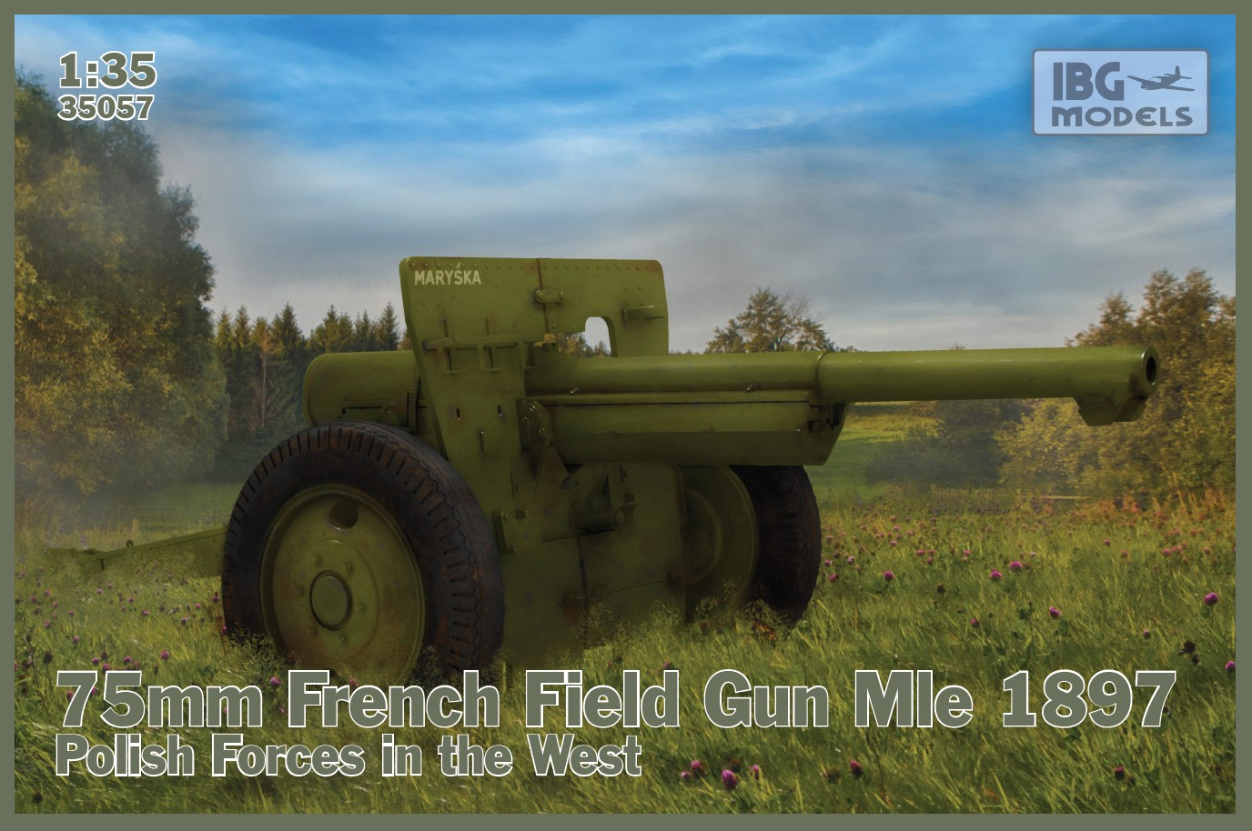 1/35 75mm French Field Gun Mle 1897 – Polish Forces in the West 35057