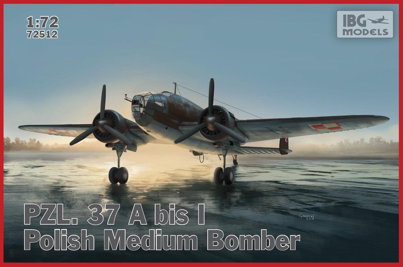 1/72 PZL. 37 A bis Łoś – Polish Bomber Plane 72512