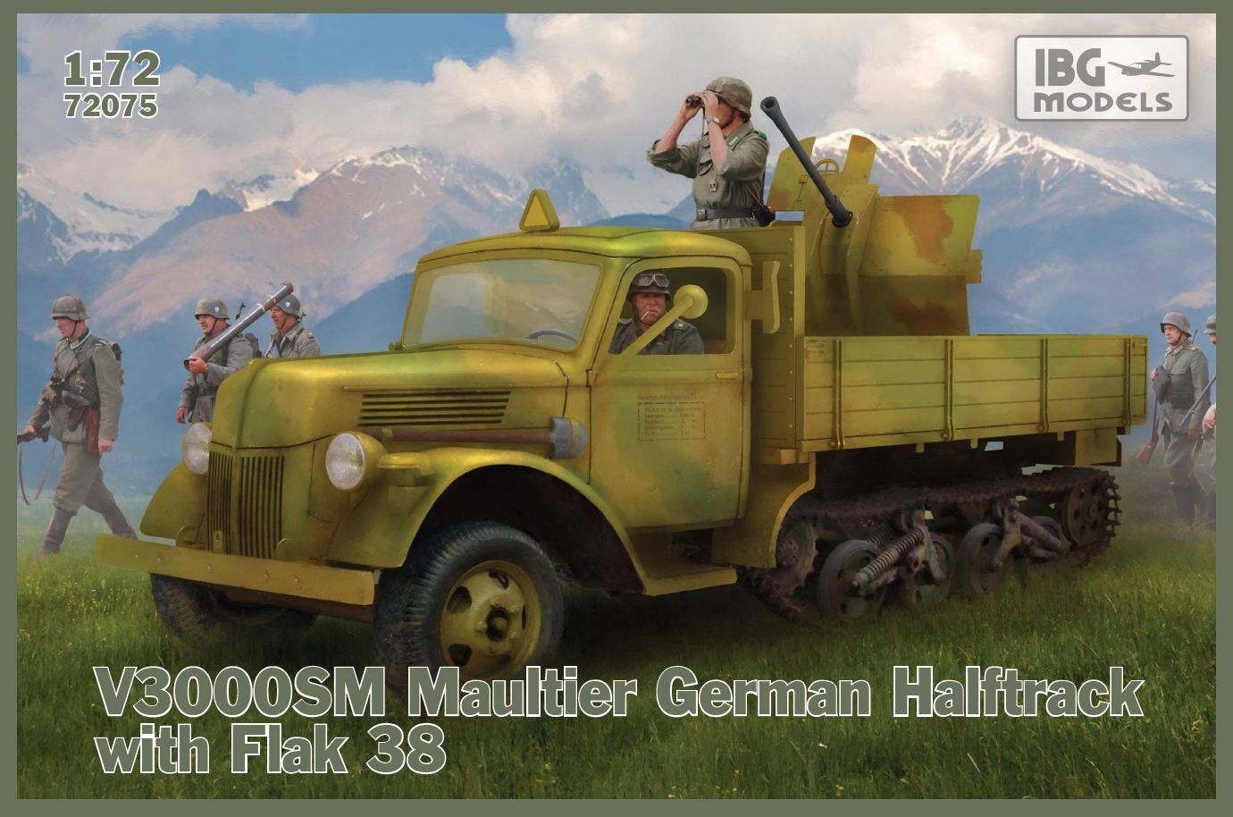 1/72 V3000S/SS M Maultier with Flak 38 72075