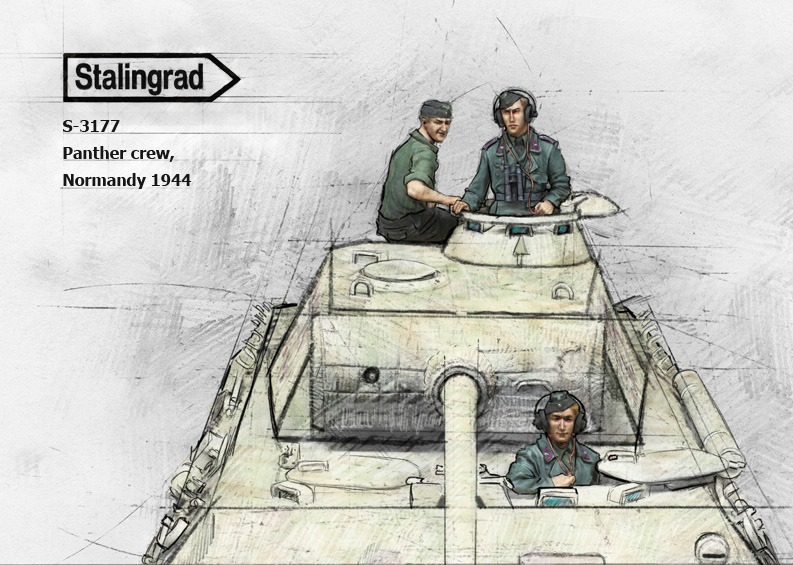 1/35 Panther crew, Normandy 1944, Product number #3177