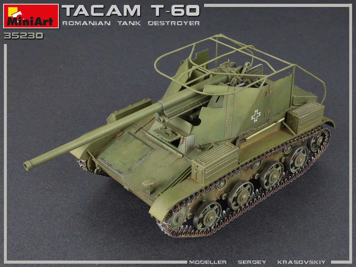 1/35 TACAM T-60 ROMANIAN TANK DESTROYER. INTERIOR KIT 35230