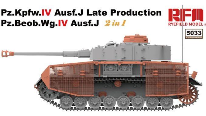 1/35 Pz.Kpfw.IV Ausf.J Late Production/ Pz.Beob.Wg.IV Ausf.J 2 in 1 RM-5033